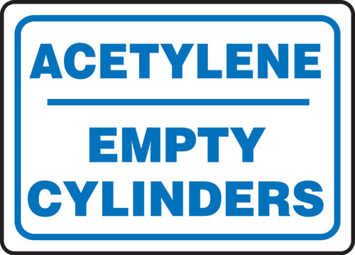 Acetylene Empty Cylinders - Dura-Plastic - 10'' X 14''
