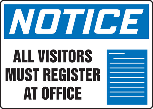 Notice - Notice All Visitors Must Check In At Project Office No Solicitations - Max Aluma-Wood - 48'' X 72''