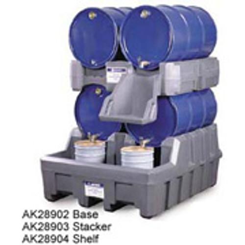 Justrite Drum Management System Stack Module- Black