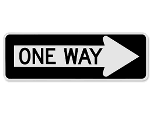One Way Sign (arrow Right)