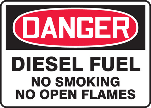 Danger - Diesel Fuel No Smoking No Open Flames - Safety Sign