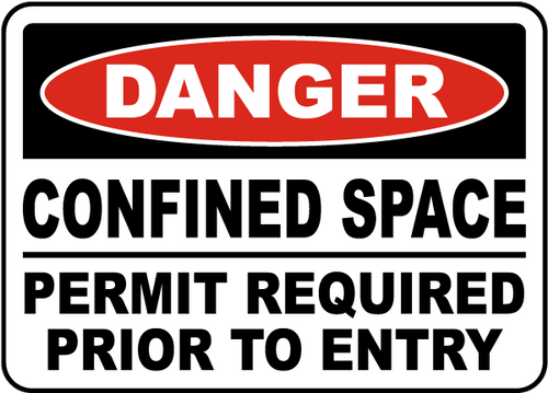 Danger - Confined Space Special Permit Or Procedure May Be Required Before Entry - Re-Plastic - 10'' X 7''
