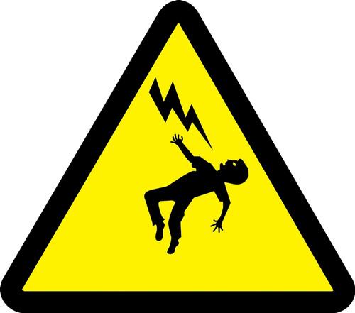MISO348 ISO Safety Sign Voltage Discharge Hazard Sign