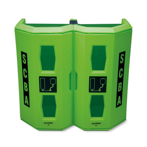 Allegro 4350 High Viz Heavy Duty Dual SCBA Wall Case, Green