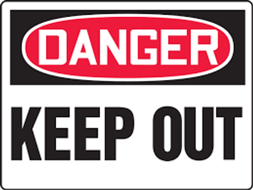 Danger - Keep Out - Adhesive Vinyl - 7'' X 10''