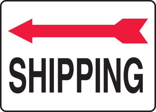 Shipping Sign- Arrow Left