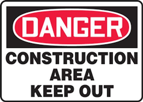 Danger - Construction Area - Dura-Plastic - 10'' X 14''