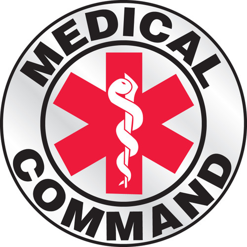 """Medical Command Helmet Label 2 1/4""""- Priced By The Each"""