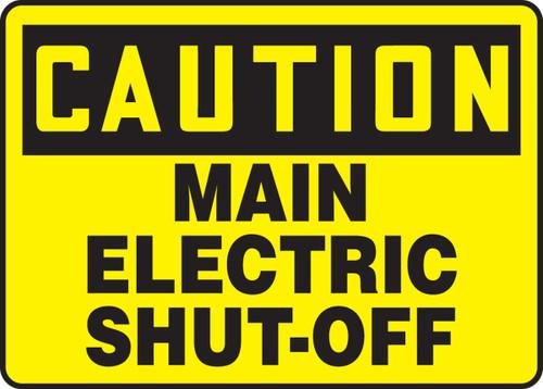 Caution- Main Electric Shut-Off