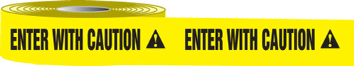Enter With Caution Barricade Tape
