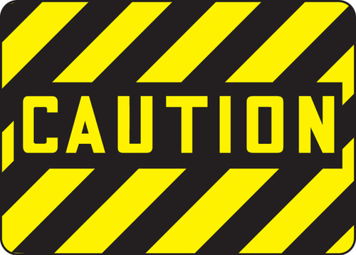 Caution - Adhesive Dura-Vinyl - 10'' X 14''
