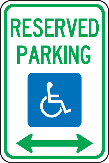 FRA146RA Reserved Parking Sign Handicapped Parking Sign