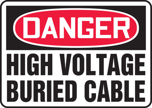 Danger - High Voltage Buried Cable