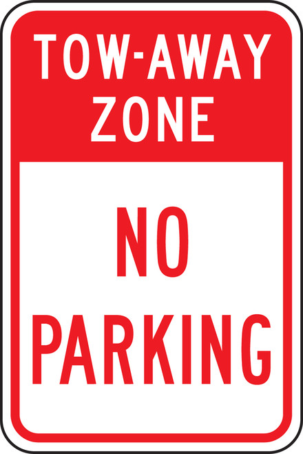 Tow-away Zone No Parking Sign