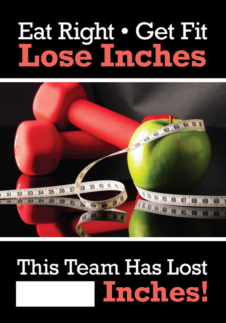 Work Healthy Write A Day Inches Lost Scoreboard Aluminum- Lost Inches