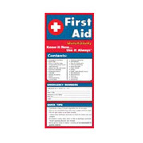 First Aid Guide -Laminated- 6 Page Folded
