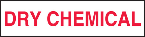 Dry Chemical Label