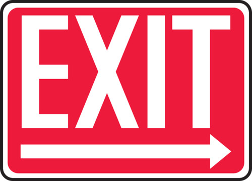 Exit (Arrow Right) - Adhesive Dura-Vinyl - 10'' X 14'' 1
