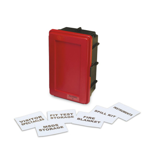 Allegro 4500-R Generic Red Wall Case w/ Label Kit and 1 Shelf