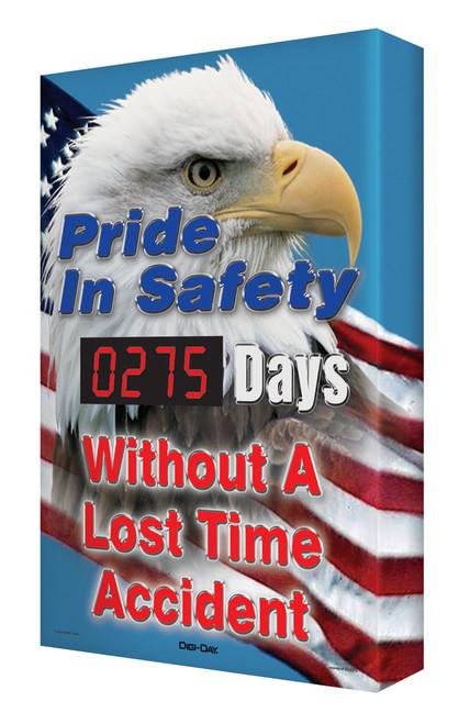 Digi Day Plus Outdoor Safety Scoreboard Pride in Safety SCM386