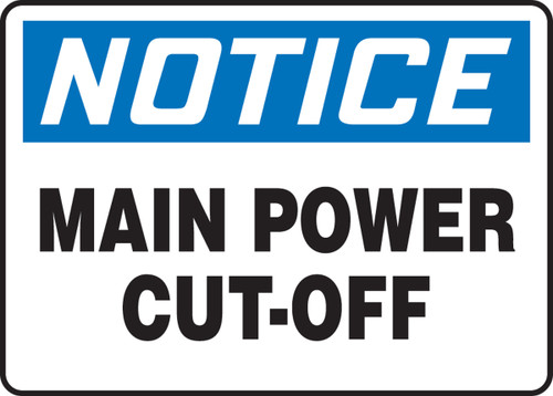 Main Power Cut-Off