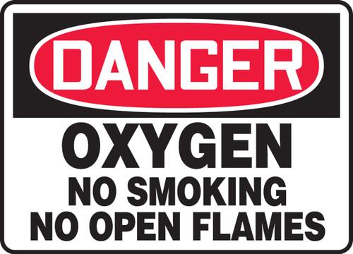 Danger - Oxygen No Smoking No Open Flames