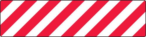 Skid Gard Floor Sign- Red/white Stripes