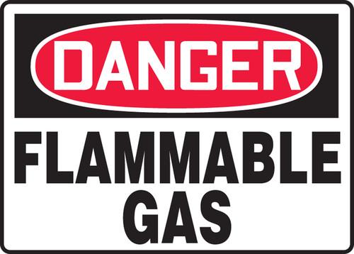 Danger - Flammable Gas - Re-Plastic - 7'' X 10''
