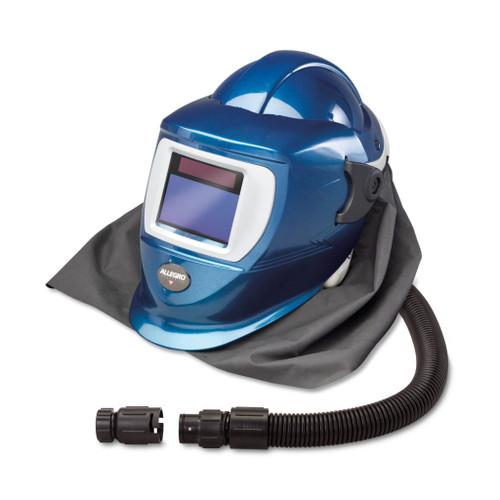 Allegro 9904-DW Deluxe SAR Shield & Welding Helmet w/ Low Pressure Flow Adapter (OBAC Fitting), ADF Lens