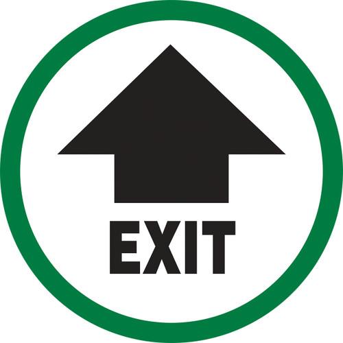 Exit Sign  (w/arrow)- Dura Vinyl