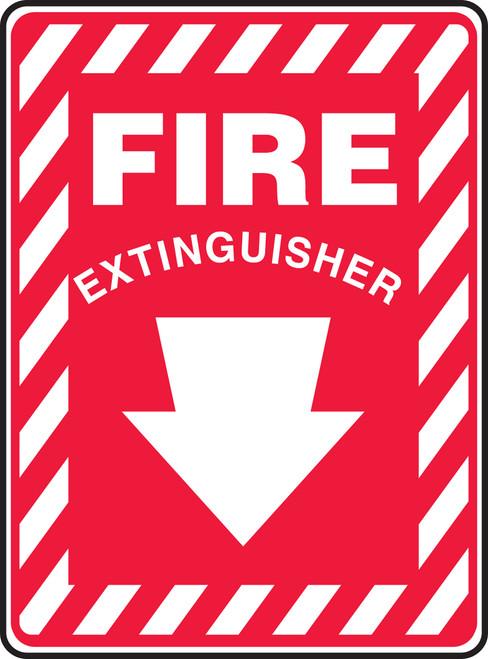 Fire Extinguisher (Arrow) - Adhesive Vinyl - 14'' X 10''