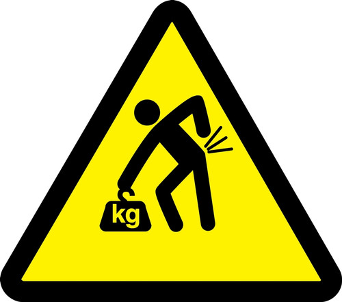 Lifting Hazard - Adhesive Vinyl - 6''