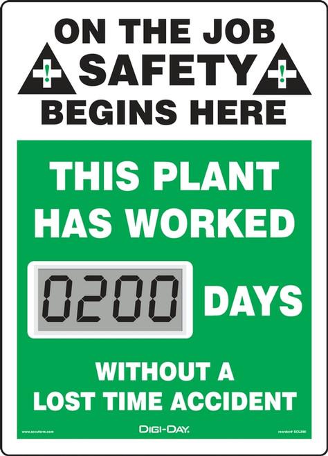 Mini Digi Day Electronic Safety Scoreboard- SCL200