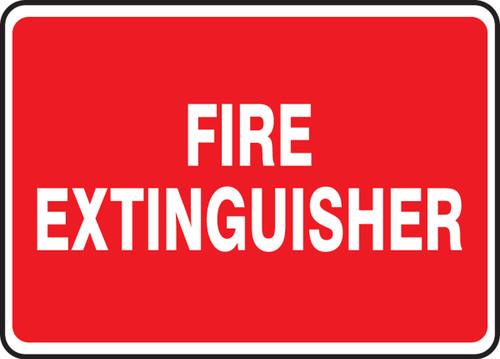 Fire Extinguisher - Adhesive Dura-Vinyl - 7'' X 10'' 1