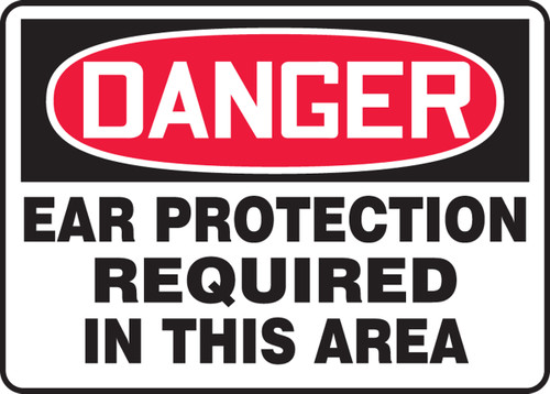 Danger Ear Protection Required In This Area