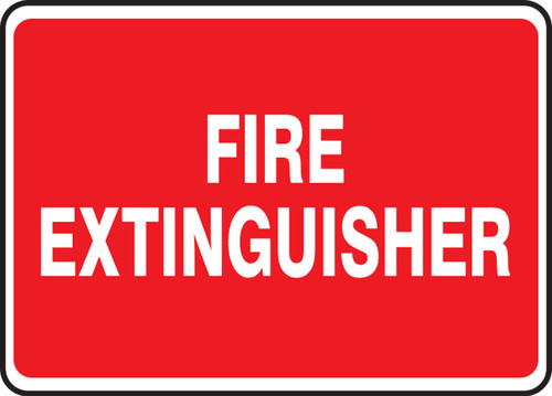 Fire Extinguisher - Adhesive Vinyl - 7'' X 10'' 1