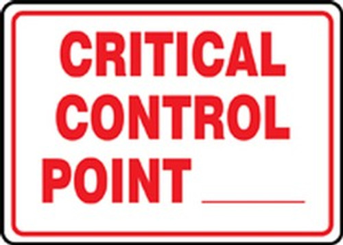 Critical Control Point ___ - Re-Plastic - 7'' X 10''
