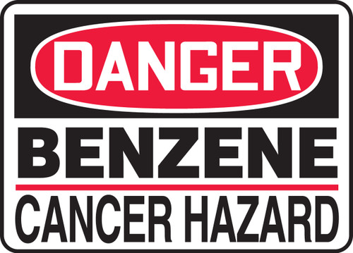 Danger - Benzene Cancer Hazard
