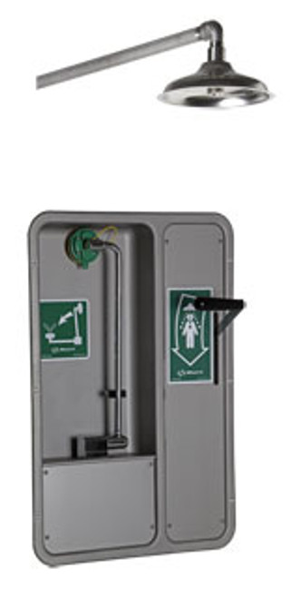 Barrier Free Emergency Eyewash- recessed- horizontal shower