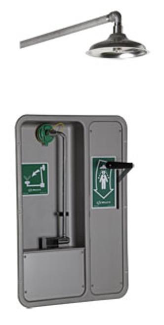 Barrier Free Emergency Eyewash- recessed- horizontal shower