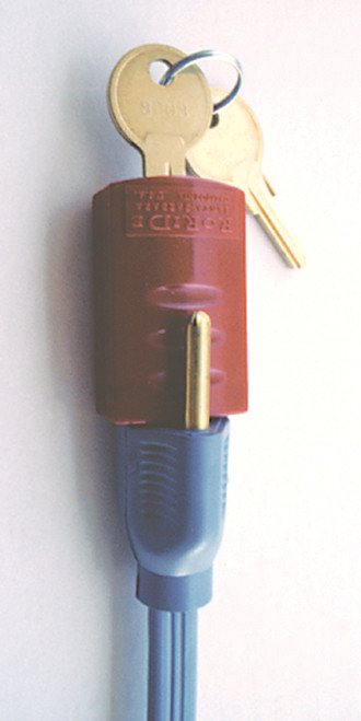 Plug-on Lockout for lockout of power cords