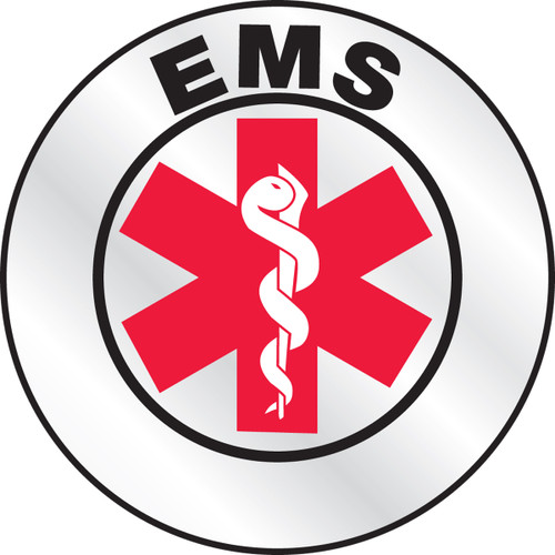 """EMS Helmet Label 2 1/4"""" Priced By The Each"""
