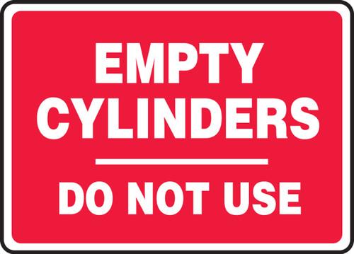 Empty Cylinders Do Not Use - Adhesive Dura-Vinyl - 10'' X 14''