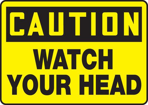 Caution - Watch Your Head - Adhesive Vinyl - 7'' X 10''