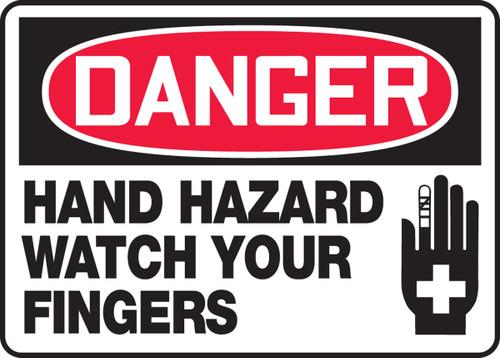 Danger - Hand Hazard Watch Your Fingers