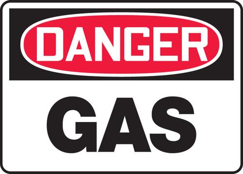 Danger - Gas - .040 Aluminum - 10'' X 14''