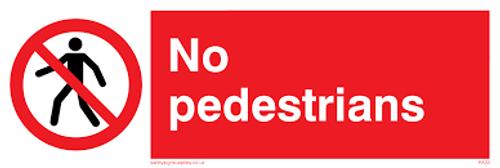 No Pedestrians - .040 Aluminum - 6''