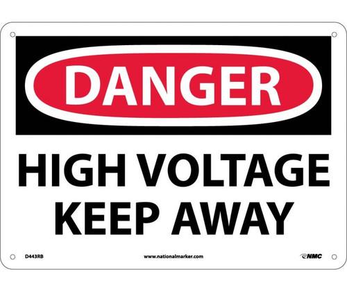 Danger - Danger High Voltage Keep Away - Re-Plastic - 10'' X 14''