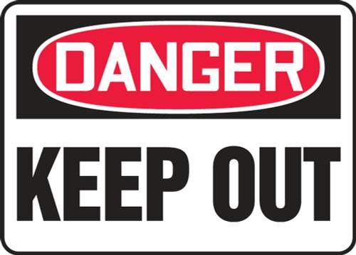Danger - Keep Away - Dura-Fiberglass - 10'' X 14''