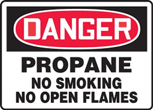 Danger - Propane No Smoking No Open Flames - Accu-Shield - 10'' X 14''
